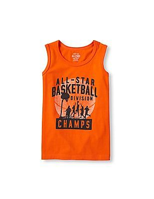 The Children's Place Boys Sleeveless Sporty Active Graphic Tank Top