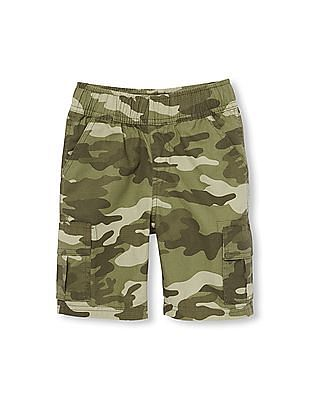 The Children's Place Boys Ripstop Woven Pull-On Cargo Shorts
