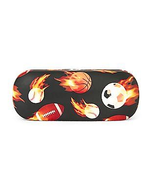 The Children's Place Boys Flaming Sports Ball Print Sunglasses Case