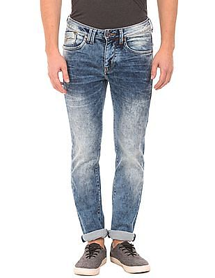 Flying Machine Skinny Fit Spray Wash Jeans