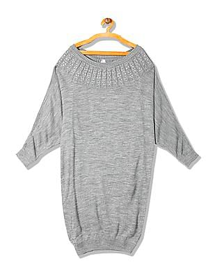 Arrow Woman Heathered Longline Sweater