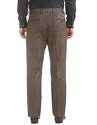 Arrow Autoflex Waist Regular Fit Trousers