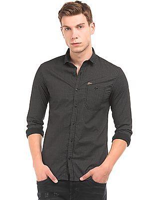 Ed Hardy Geometric Print Slim Fit Shirt