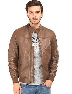 U.S. Polo Assn. Denim Co. Grained Regular Fit Biker Jacket