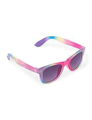 The Children's Place Toddler Girl Faceted Retro Sunglasses