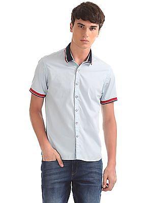 Colt Rib Knit Collar Solid Shirt