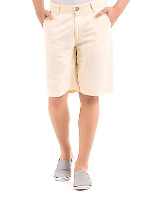 Flying Machine Solid Slim Fit Shorts