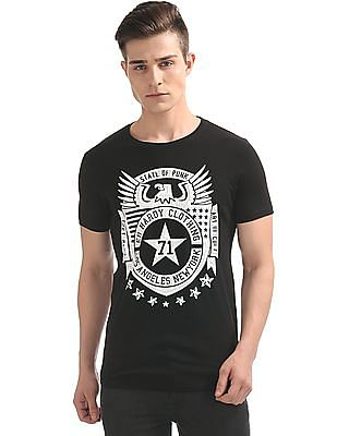 Ed Hardy Hard Print Crew Neck T-Shirt