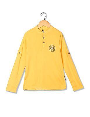 U.S. Polo Assn. Kids Boys Long Sleeves Henley T-Shirt