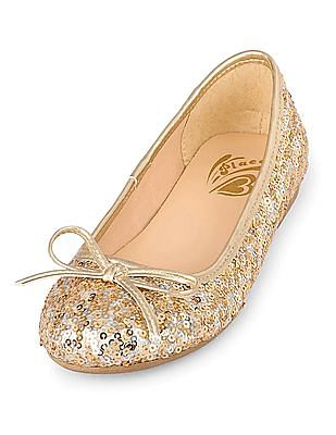 The Children's Place Girls Sequin Kayla Belly Shoes