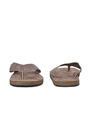 Aeropostale Solid Leather Sandals