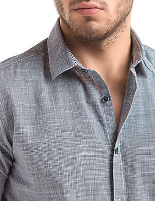 True Blue Puppytooth Slim Fit Shirt