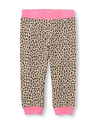 The Children's Place Toddler Girl Leopard Print Knit Jogger Pants