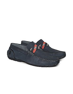 U.S. Polo Assn. Contrast Trim Leather Loafers