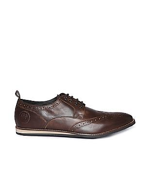 U.S. Polo Assn. Distressed Leather Wingtip Brogues