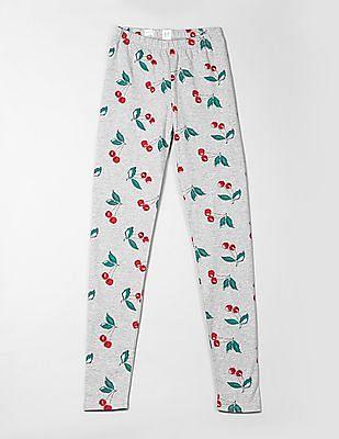 GAP Girls Cherry Print Jersey Leggings