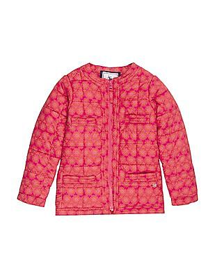 U.S. Polo Assn. Kids Girls Printed Zip Up Jacket