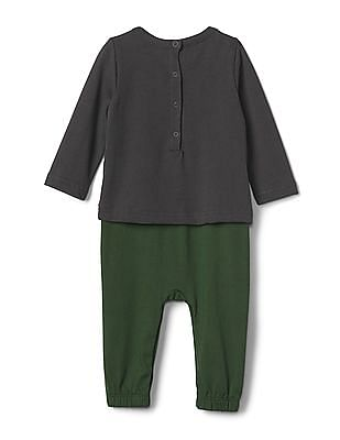 GAP Baby Black Disney Snow White and the Seven Dwarfs Double-Layer One-Piece