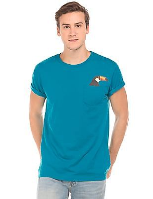 Aeropostale Regular Fit Toucan Pocket T-Shirt