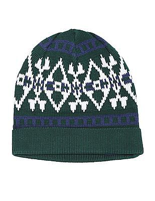 U.S. Polo Assn. Patterned Knit Beanie