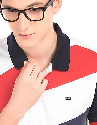 Arrow Sports Diagonal Striped Polo Shirt