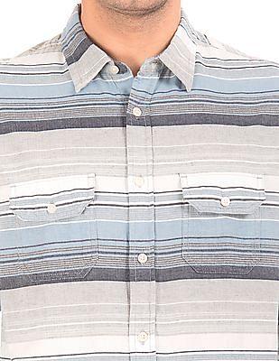 Aeropostale Striped Regular Fit Shirt