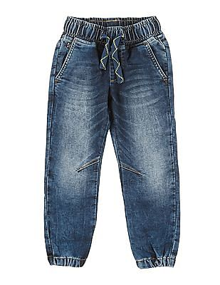 U.S. Polo Assn. Kids Boys Regular Fit Jogger Jeans