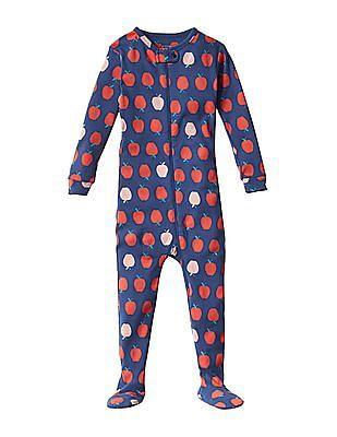 GAP Baby Blue Apple Footed Sleep One Piece