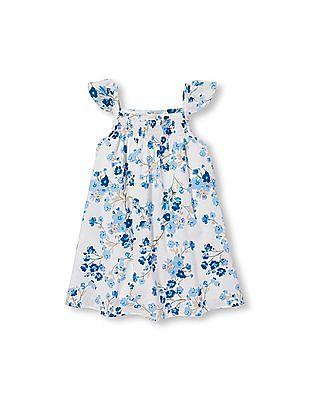 The Children's Place Toddler Girl Flutter Sleeve Floral Print Dress