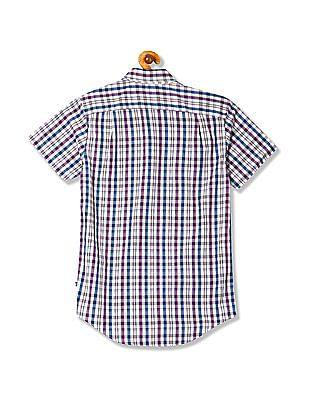 Nautica Short Sleeve Woven Check Shirt