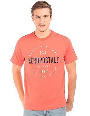 Aeropostale Printed Front Slubbed T-Shirt