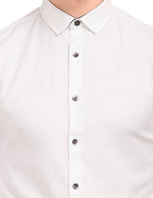 Flying Machine Slim Fit French Placket Shirt