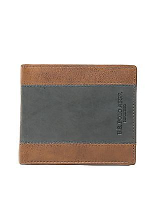 U.S. Polo Assn. Colour Block Leather Bi-Fold Wallet