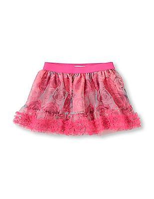 The Children's Place Baby Ruffle Trim Mesh Skirt