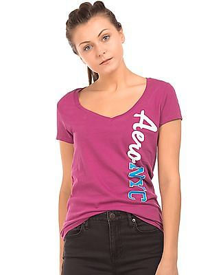 Aeropostale V-Neck Regular Fit T-Shirt