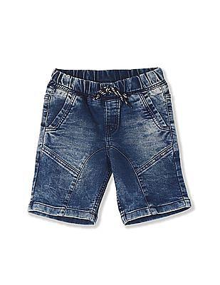Cherokee Blue Boys Drawstring Waist Denim Shorts