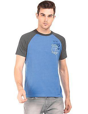 Aeropostale Contrast Raglan Sleeve Cotton T-Shirt