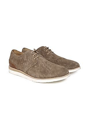 Johnston & Murphy Contrast Sole Suede Derby Shoes