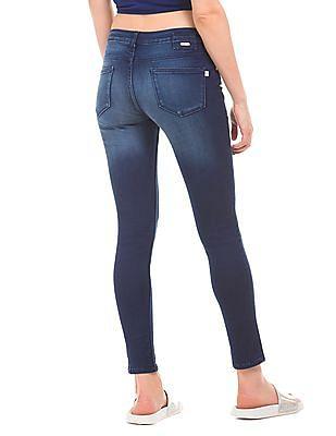 Flying Machine Women Stone Wash Super Skinny Fit Jeans