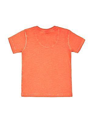 U.S. Polo Assn. Kids Boys Washed Printed T-Shirt