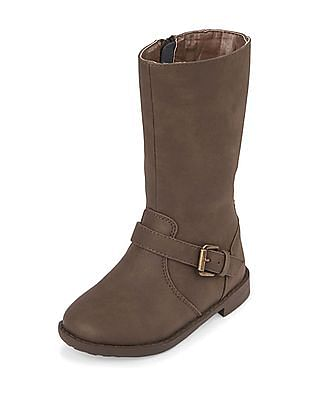 The Children's Place Baby Tall Lace High-Low Boots