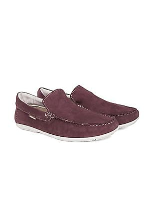 U.S. Polo Assn. Contrast Sole Leather Loafers