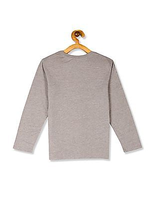The Children's Place Brown Boys Long Sleeve Graphic T-Shirt