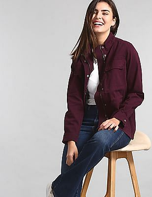 GAP Purple Utility Twill Jacket