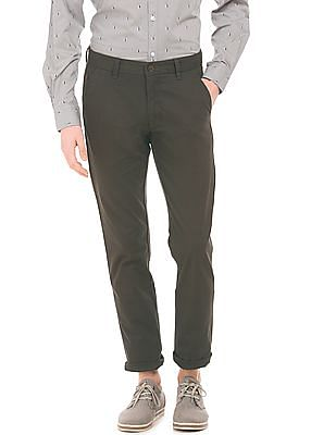 Arrow Sports Textured Slim Fit Chinos