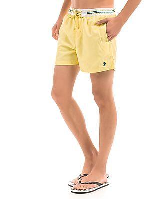 Izod Elasticized Waist Swim Shorts
