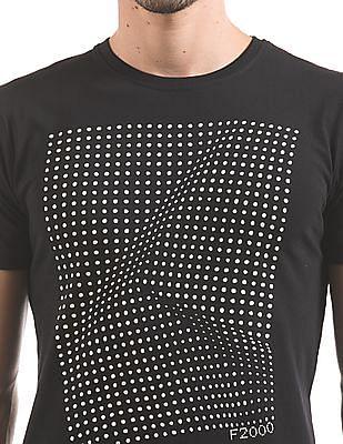 Flying Machine Glow In The Dark Regular Fit T-Shirt