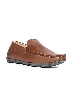 Arrow Solid Leather Loafers
