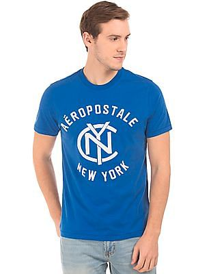 Aeropostale Brand Embroidered Round Neck T-Shirt