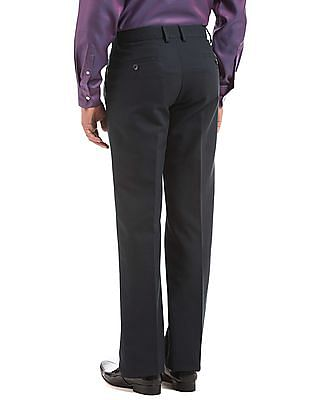 Arrow Sports Flat Front Regular Fit Trousers
